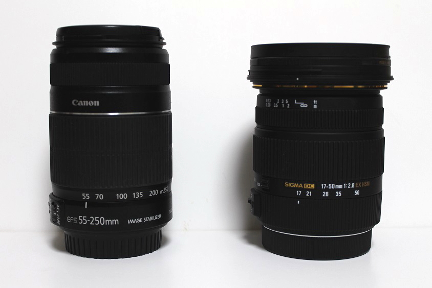 17-50mm F2.8 size